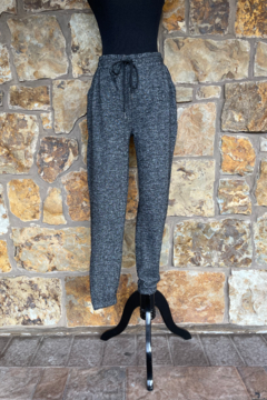 Shoptiques Product: Heathered Black Hacci Jogger