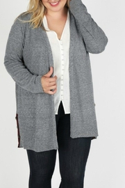Skies Are Blue Heathered Charcoal Cardigan - Product Mini Image