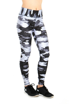 Terez Heathered Gray Camo Legging - Alternate List Image