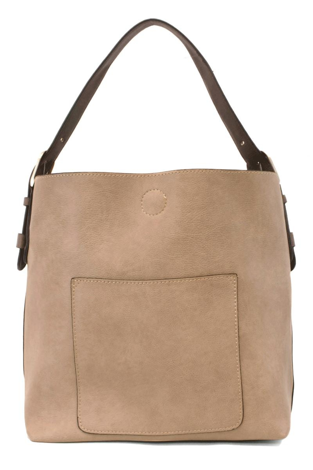 Joy Accessories Heathered Grey Hobo - Front Cropped Image