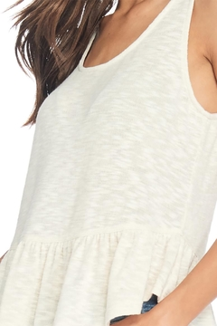 Anama Heathered Peplum Tank - Alternate List Image