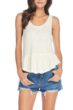 Anama Heathered Peplum Tank - Product List Image