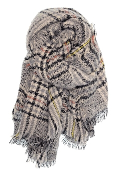 Shoptiques Product: Heathered Plaid Scarf
