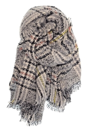 Joy Accessories Heathered Plaid Scarf - Product Mini Image