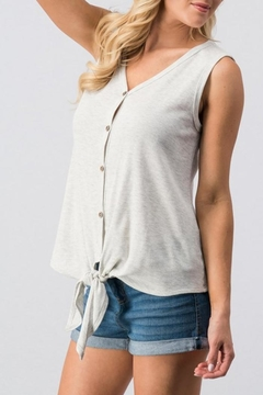 Trend:notes Heathered Shadow Tank - Product List Image