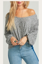 Show Me Your Mumu Heathered Shimmer Top - Product Mini Image