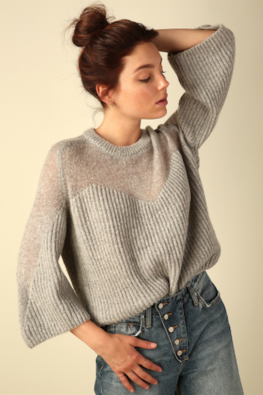 Line & Dot Heavenly Sheer Sweater - Main Image