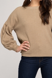 She and Sky Heavy Knit Top - Front cropped