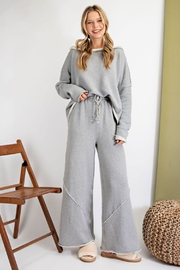 easel  Amina Terry Wide Leg Pant - Back cropped