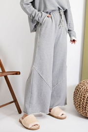 easel  Amina Terry Wide Leg Pant - Front full body
