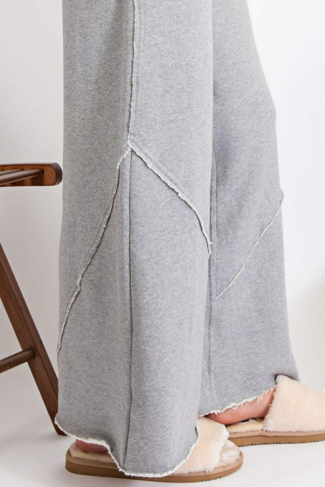 easel  Amina Terry Wide Leg Pant - Side Cropped Image