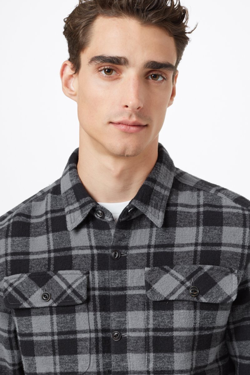 Ten Tree Heavy Weight Flannel Shirt - Front Full Image