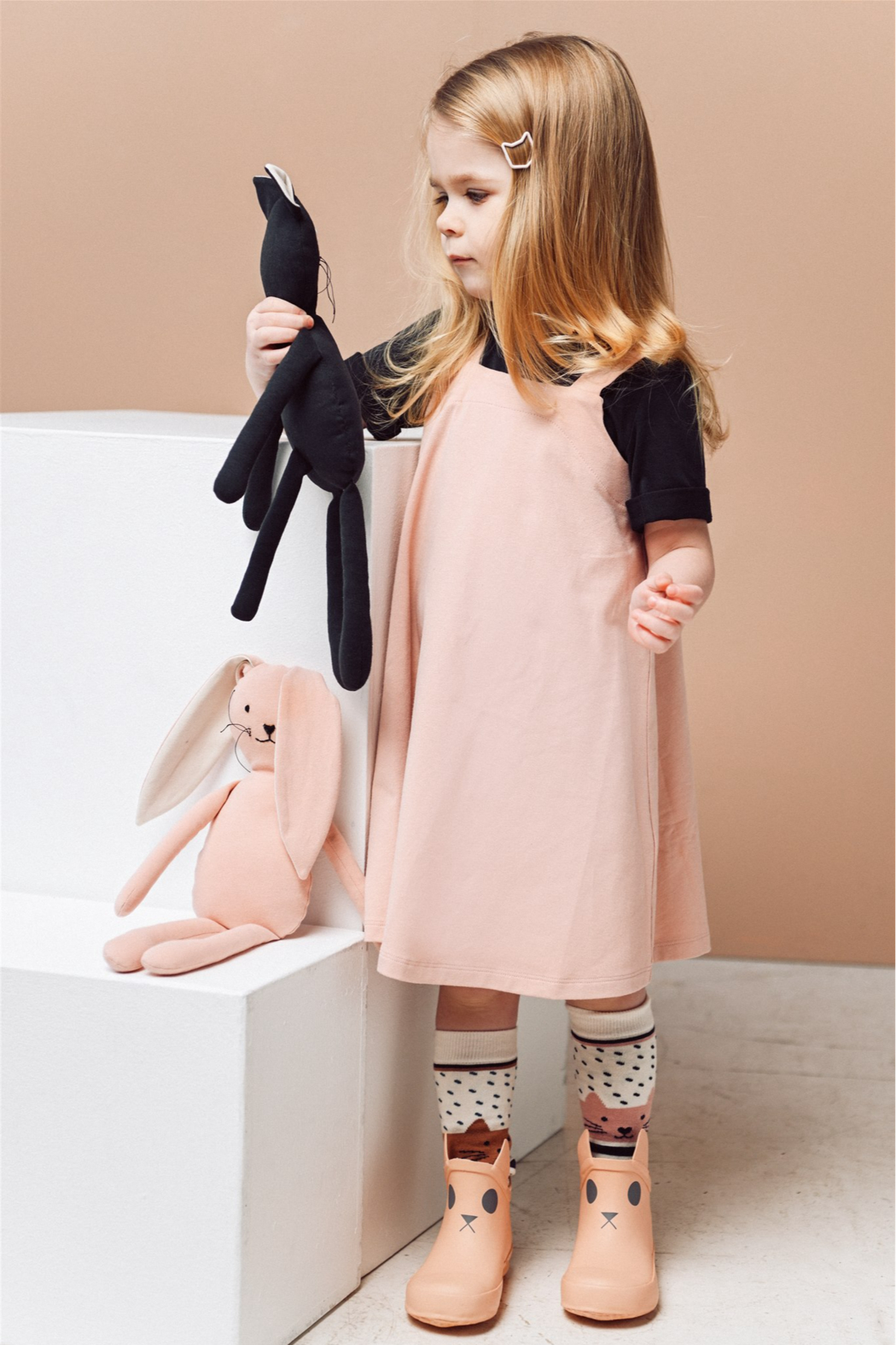 Hebe Organic Cotton Strap Dress for Girls - Main Image