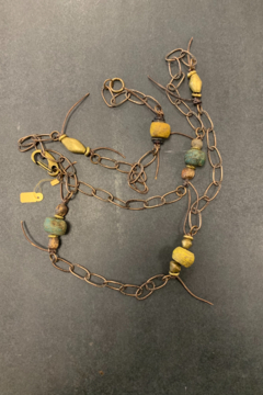 debe dohrer design Hebron beads on hammered chain from Bali - Product List Image