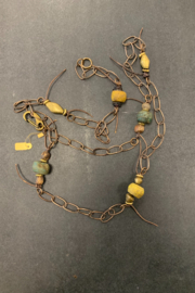 debe dohrer design Hebron beads on hammered chain from Bali - Product Mini Image