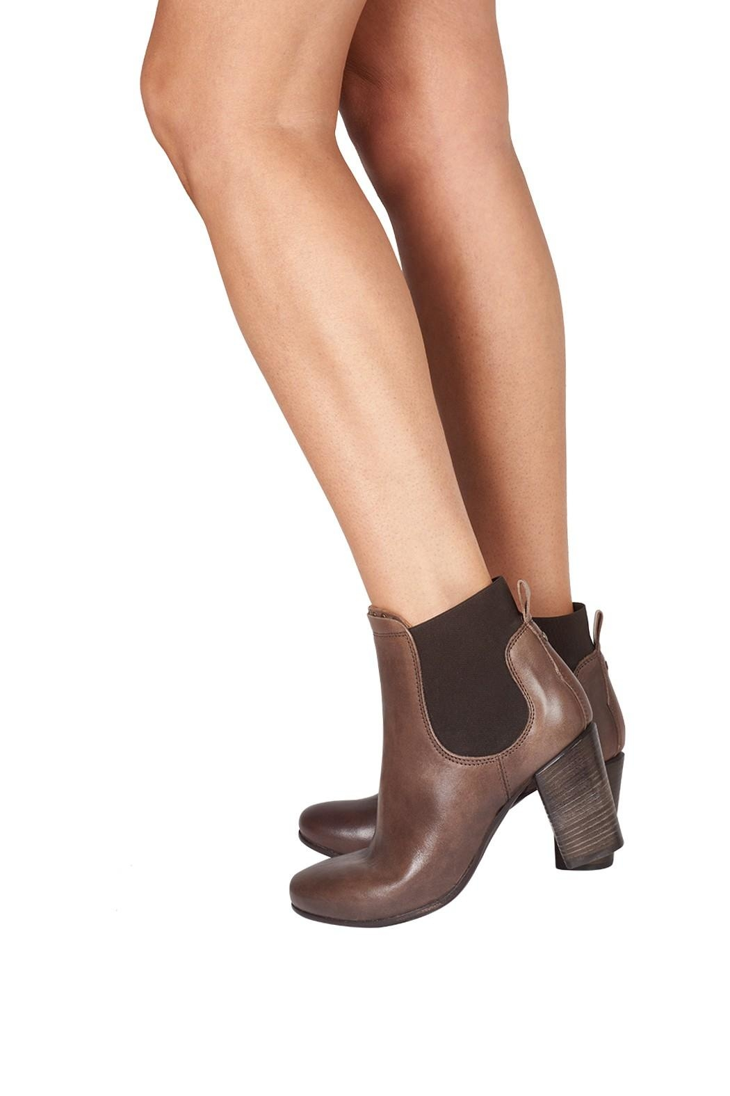 Lady Doc Heeled, Ankle, Brown - Back Cropped Image