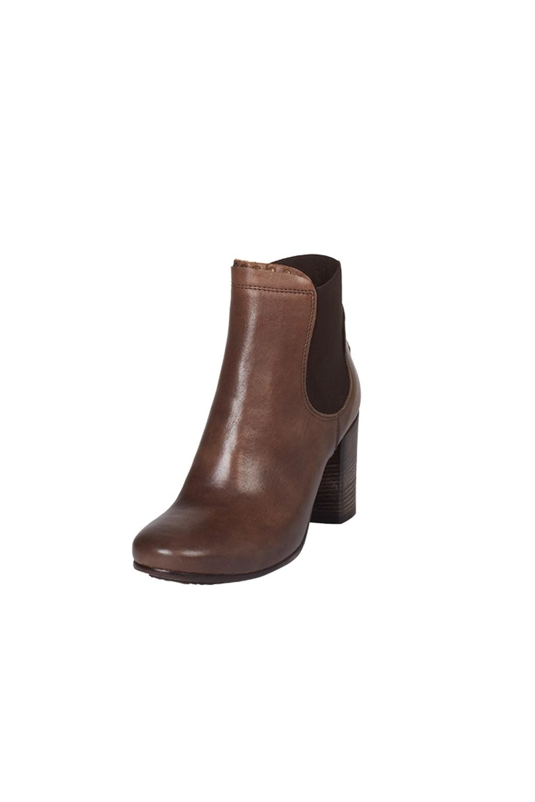 Lady Doc Heeled, Ankle, Brown - Front Full Image