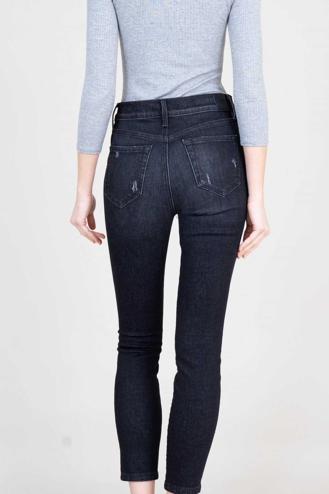 Level 99 Heidi Exposed Button Fly Jeans - Front Cropped Image