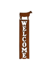 Rustic Ironwerks Heifer Welcome Sign - Front cropped