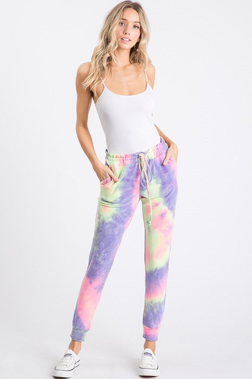 Heimish Tie Dye Joggers - Back Cropped Image