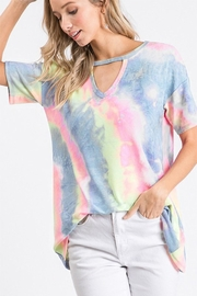 Heimish Tie-Dye Keyhole Top - Front cropped