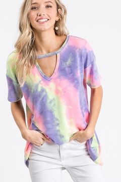 Shoptiques Product: Tie-Dye Keyhole Top