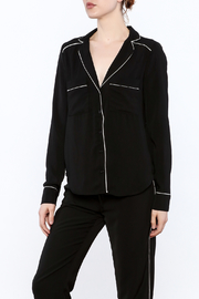 Heiress Boutique Lea Pajama Blouse - Front cropped