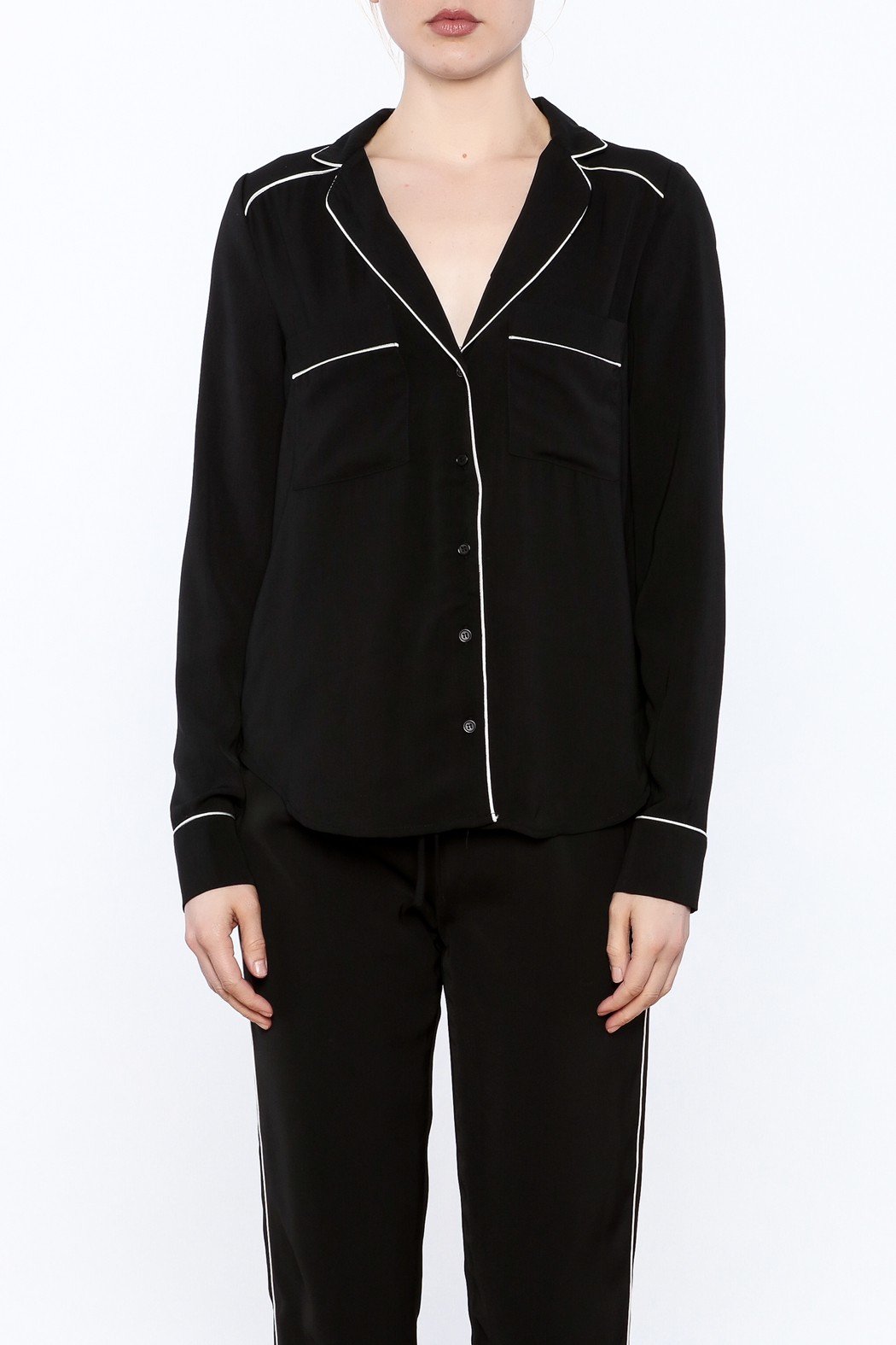 Heiress Boutique Lea Pajama Blouse - Front Full Image