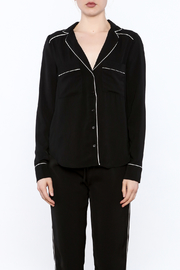 Heiress Boutique Lea Pajama Blouse - Front full body