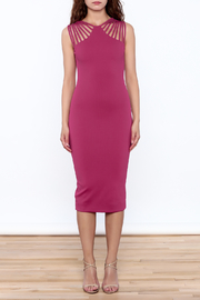 Heiress Boutique Magenta Dress - Front full body