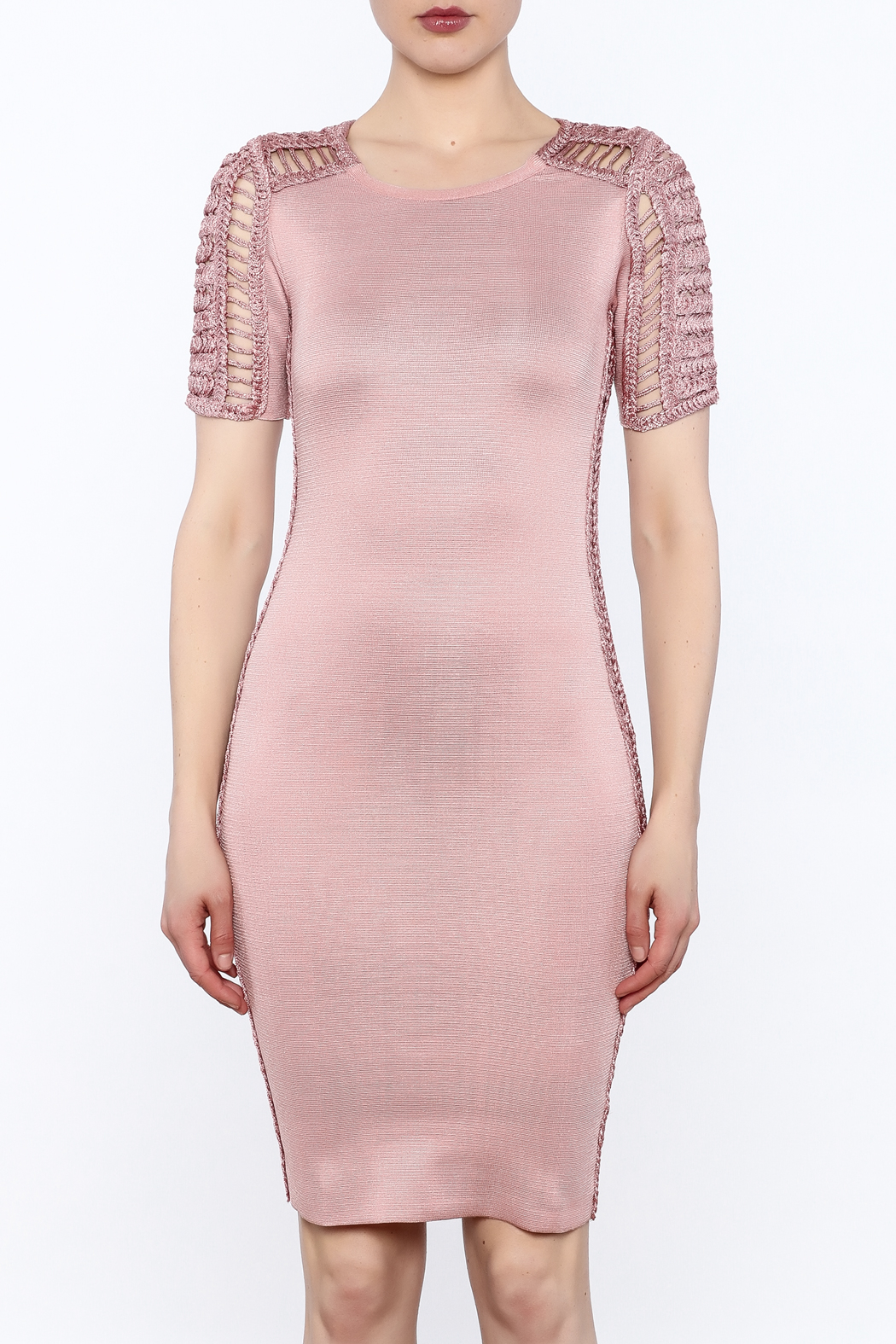 Heiress Boutique Pink Bandage Dress - Front Full Image