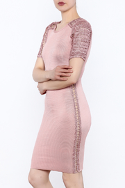Heiress Boutique Pink Bandage Dress - Front cropped