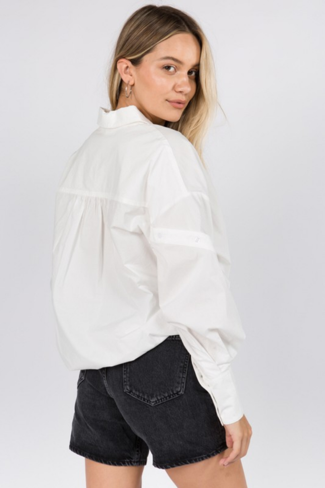 Whiteroom Cactus Helen Button Down Blouse - Back Cropped Image