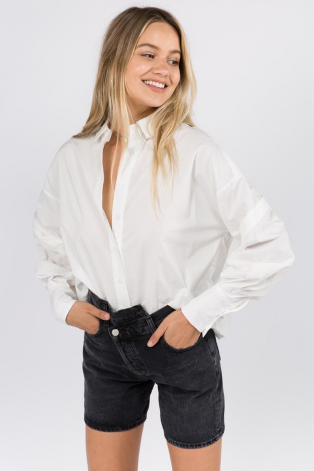 Whiteroom Cactus Helen Button Down Blouse - Front Full Image