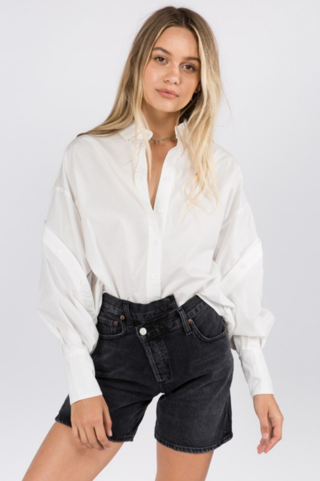 Whiteroom Cactus Helen Button Down Blouse - Front Cropped Image