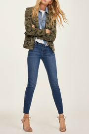 Blue Revival Helen Camo & Denim Blazer - Front cropped