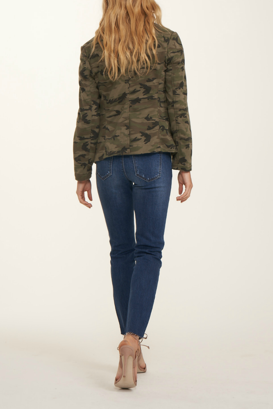 Blue Revival Helen Camo & Denim Blazer - Front Full Image