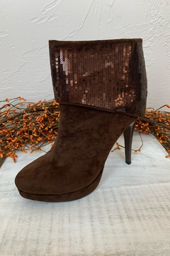 Helen's Heart Cuffed Brown Boots - Product List Image