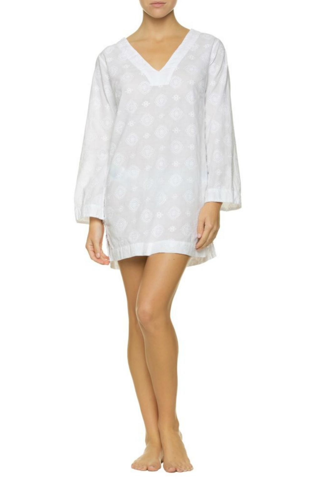 Helen Jon  Embroidered V-Neck Tunic - Side Cropped Image