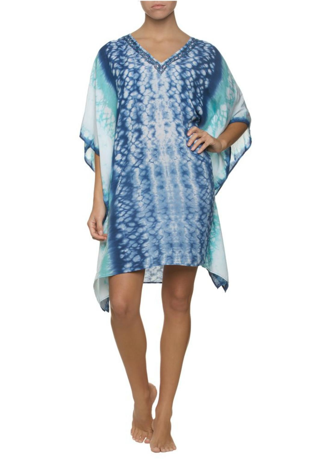 Helen Jon  Hand Dyed Caftan - Back Cropped Image