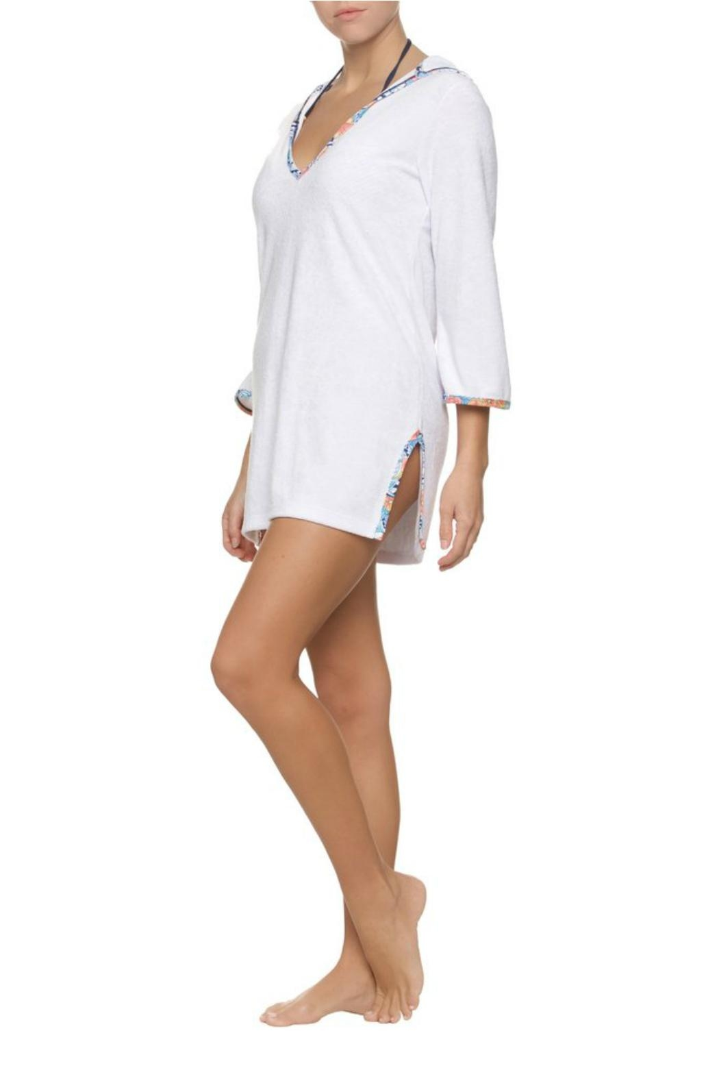 Helen Jon  Hooded Terry Coverup - Side Cropped Image