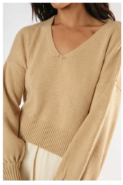 Girl in the Sun Helena Knit Sweater - Front full body