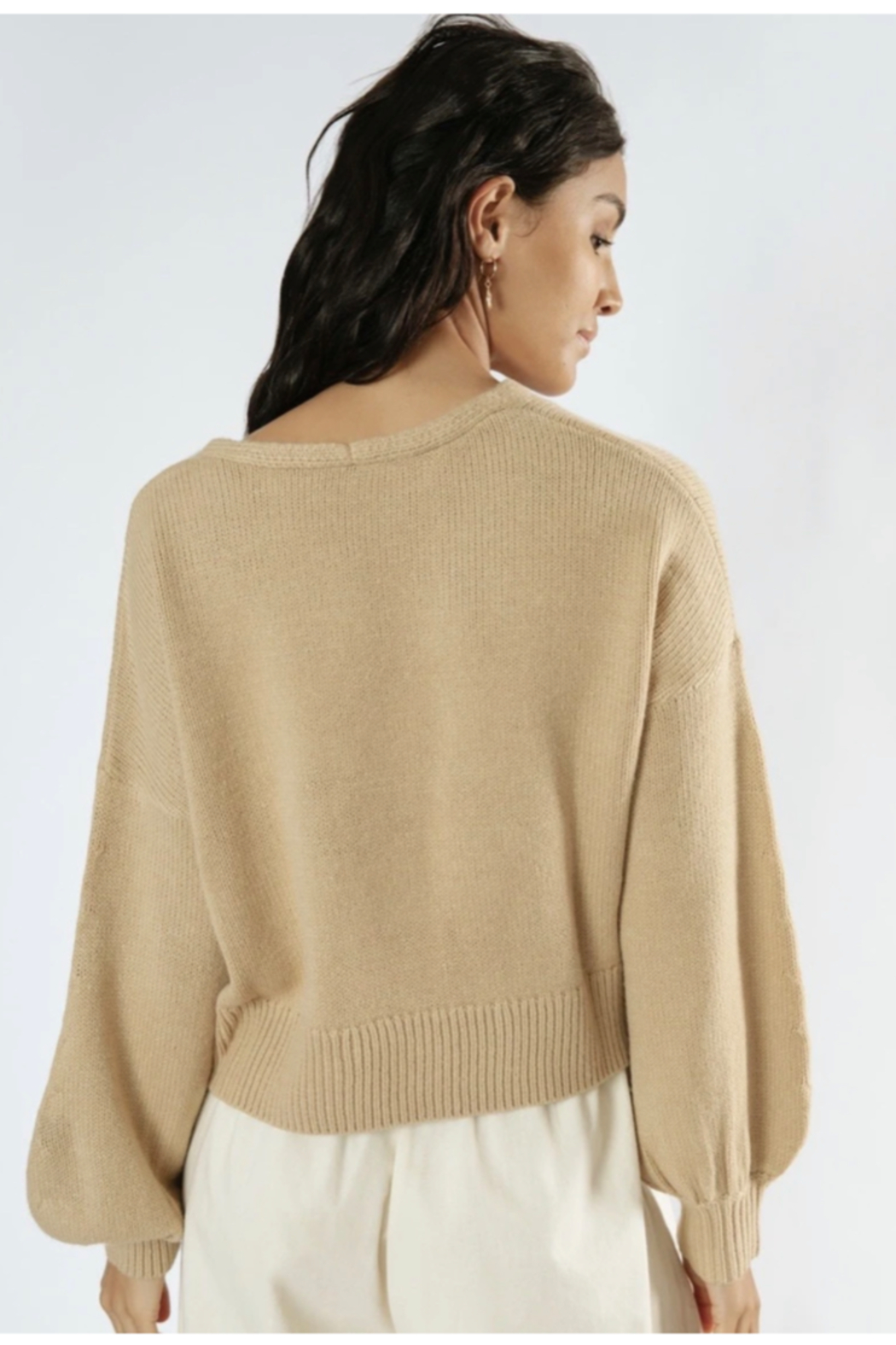 Girl in the Sun Helena Knit Sweater - Back Cropped Image
