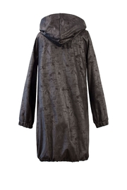 Helena Jones Foil Hooded Coat - Front full body