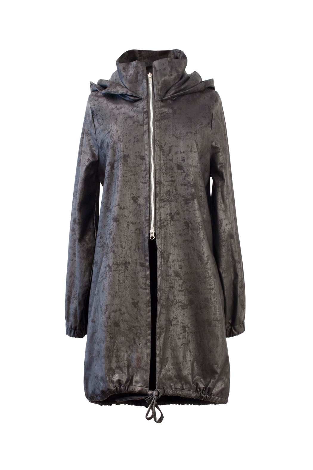 Helena Jones Foil Hooded Coat - Front Cropped Image
