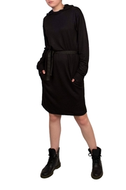 Helena Jones Hooded French Terry Dress - Front cropped