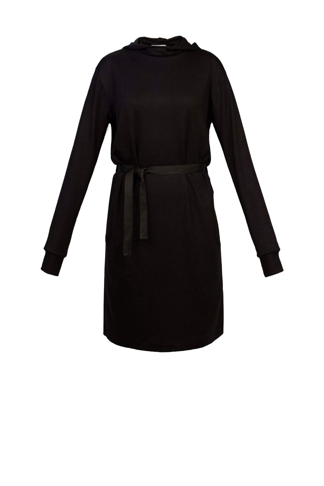 Helena Jones Hooded French Terry Dress - Front Full Image