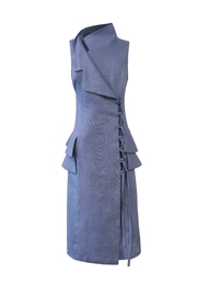 Helena Jones Linen Fitted Dress - Front cropped