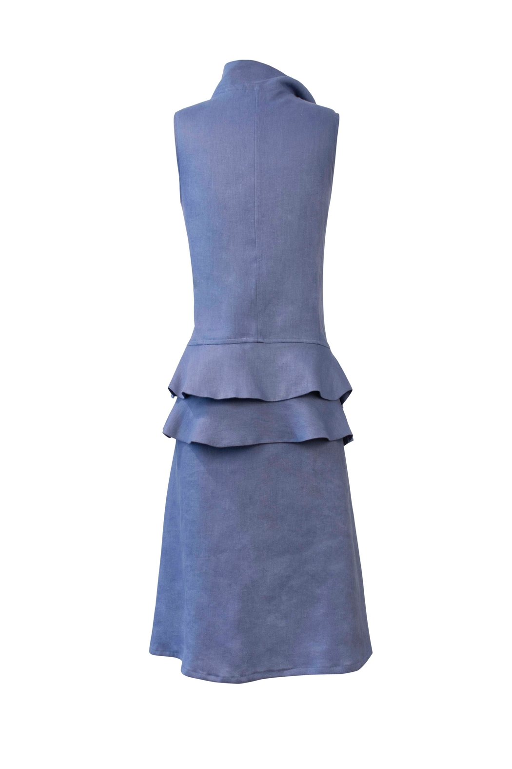 Helena Jones Linen Fitted Dress - Front Full Image