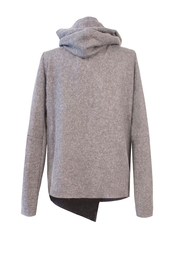 Helena Jones Wool Hooded Top - Front full body